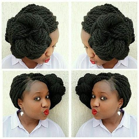 kinky twist bun styles 57 pics of kinky twist dos for various events vogues