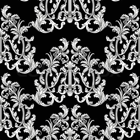 pattern baroque vector baroque style floral seamless vector pattern stock