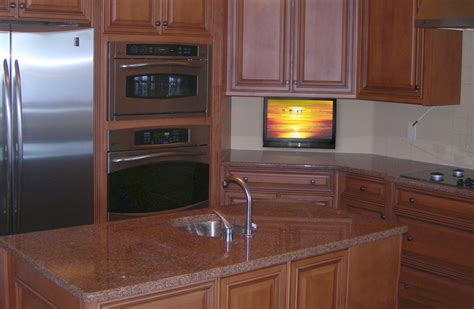 tv for kitchen cabinet small kitchen tv drop down tv in kitchen nexus 21