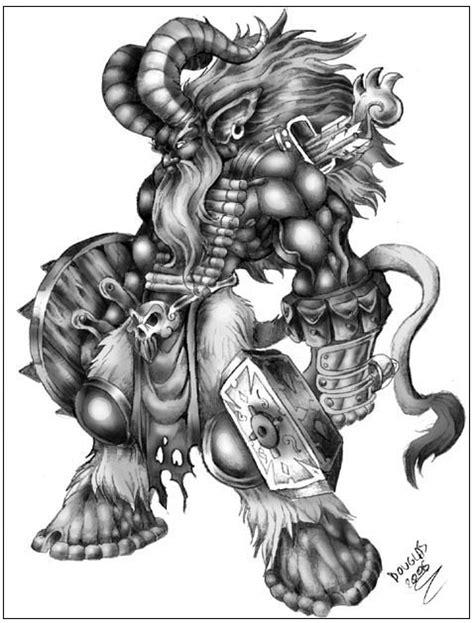 guerreiro fauno by douglasdraco on deviantart