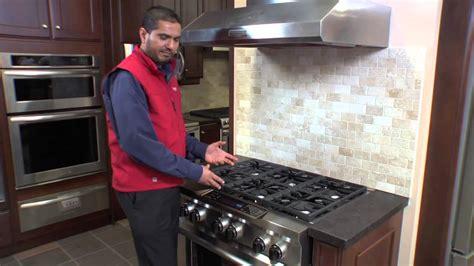 kitchenaid  pro style duel fuel range oven  caplans