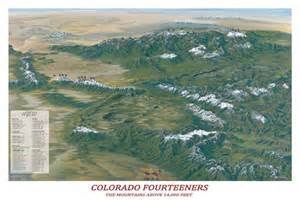 Map Of 14ers In Colorado by Colorado Fourteeners Poster From Macvan Map Store