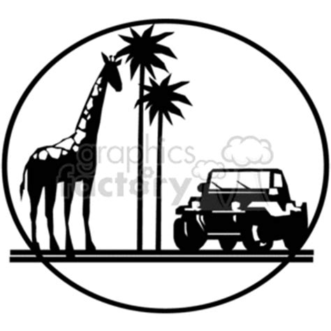 christmas jeep clip art royalty free african safari trip giraffe and jeep 374861