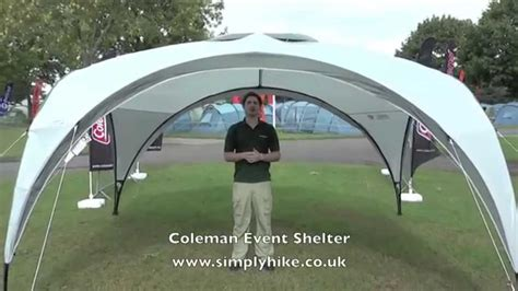 pavillon 5x4 coleman event shelter www simplyhike co uk