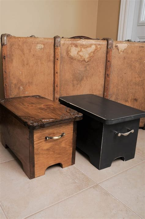 hand  storage boxes stepping stools box bench