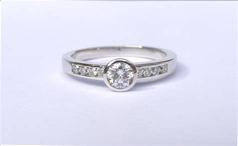 18ct recycled white gold and ethical engagement ring