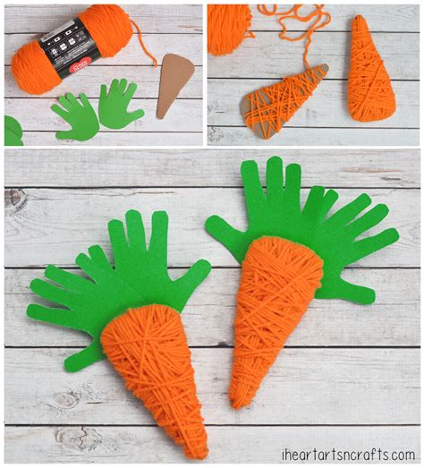 carrot craft for yarn wrapped carrots 343 i arts n crafts