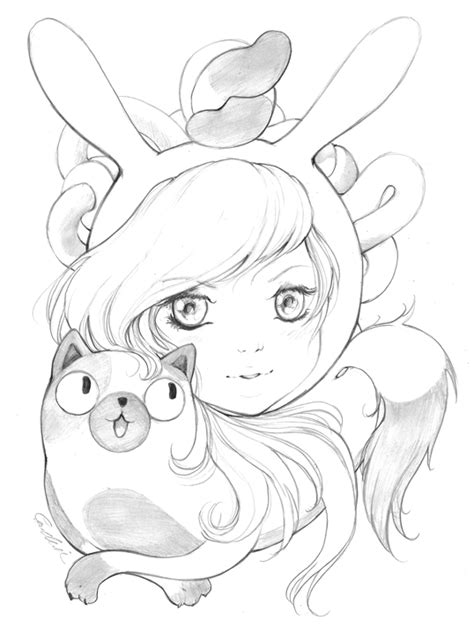 adventure time coloring pages fionna and cake fionna the human and cake adventure time with fionna and