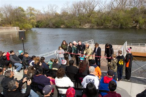chicago boat house city of chicago mayor emanuel chicago park district cut ribbon on boat house at