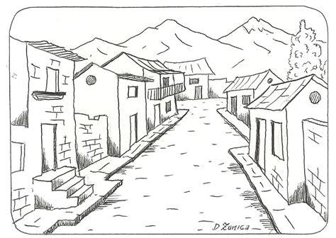 pueblo house coloring page paisajes para colorear paisajes para colorear