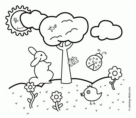 printable coloring pages kinder printable spring coloring pages kindergarten coloring home