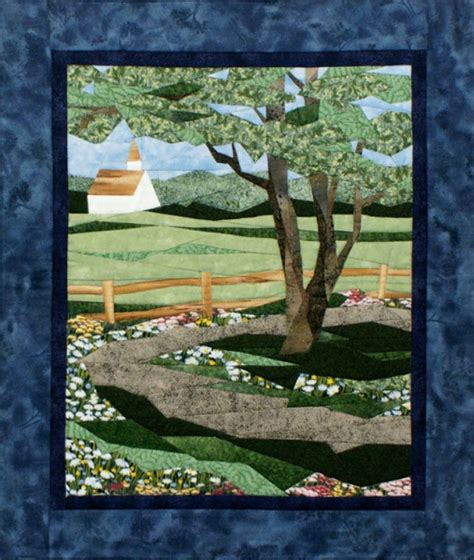 country road pieced quilt pattern by cynthia england at