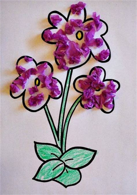 Flower Tissue Paper Craft - 20 best images about crafts on