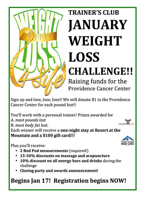 a weight loss challenge january weight loss challenge trainers club