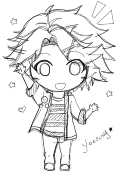 doodle draw fb messenger chibi yoosung mystic messenger by shiemi hime on deviantart