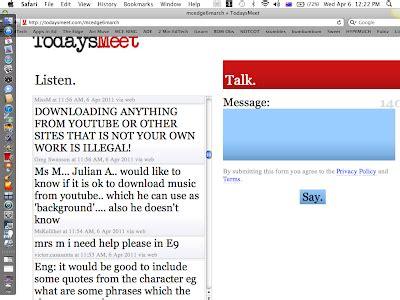 todaysmeet join room edtech toolbox april 2011