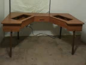 Cabinet Table Fantastic Sewing Machine Cabinet Table Holds 2 Machines