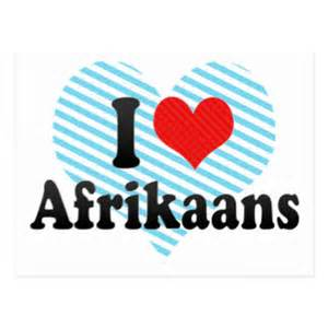i love afrikaans post cards