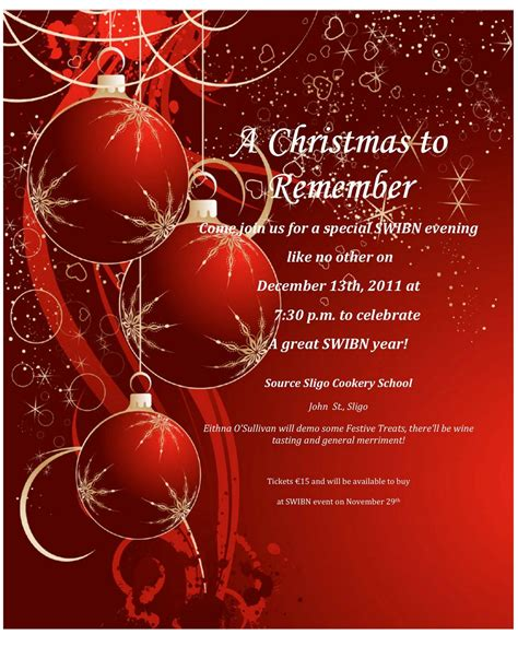 christmas invitation templates with wreath download print