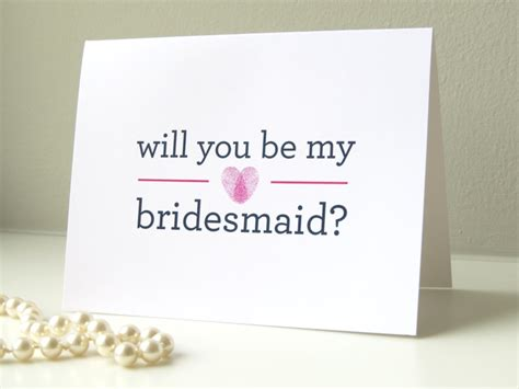 Handmade Will You Be My Bridesmaid Cards - custom color will you be my bridesmaid of honor