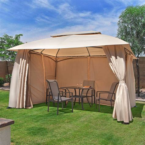 10 X 13 Outdoor Backyard Patio Gazebo Canopy Tent With Patio Tent Gazebo