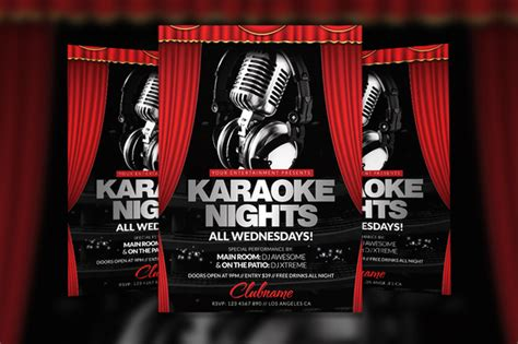 free templates for karaoke flyers karaoke nights flyer template flyer templates on