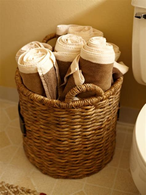 what to put in bathroom baskets house counselor bathroom towel storage hgtv