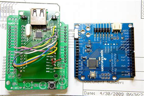 tutorial arduino usb host shield arduino usb host pre prototyping 171 circuits home
