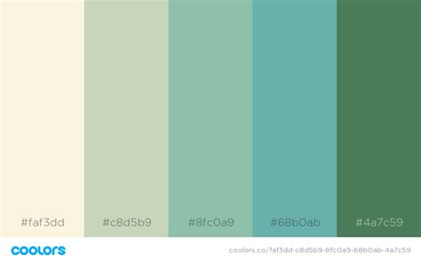 green color combinations 34 beautiful color palettes for your next design project