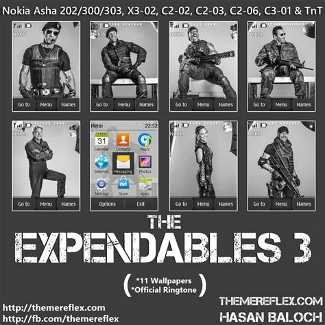 animated themes for nokia asha 202 the expendables 3 animated theme for nokia asha 202 300