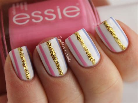 easy nail art stripes besweetxo sparkle stripe nails spektor s nails
