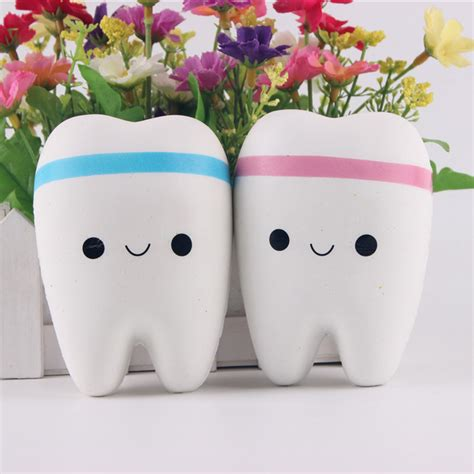Tooth Squishy aliexpress buy new 11cm kawaii tooth jumbo squishy