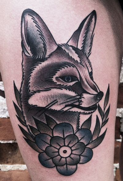 animal tattoo database american traditional fox tattoo google search tattoo