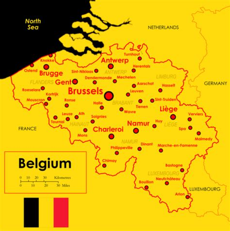 map of belgium with cities map of belgium and its major cities