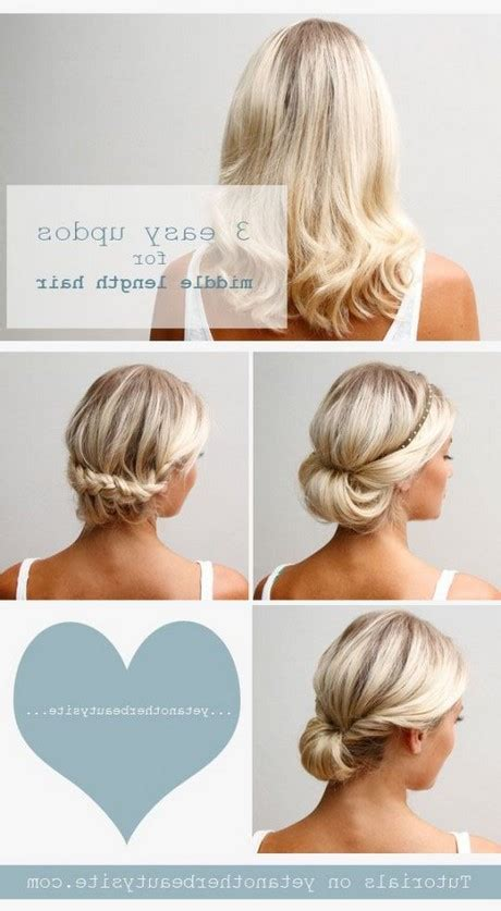 Simple Hairstyles For Shoulder Length Hair by Simple Haircuts For Medium Length Hair