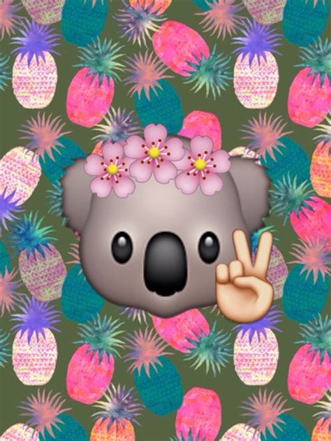 wallpaper emoji flower pandas image 3177845 by winterkiss on favim com