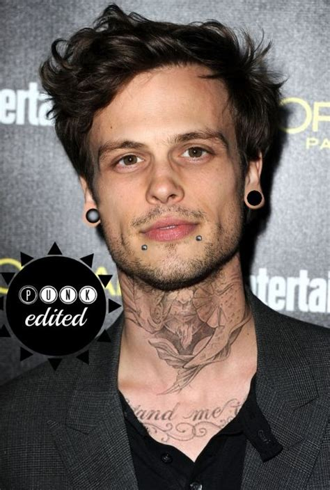 matthew gray gubler if he had tattoos and ear gauges
