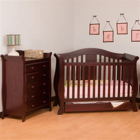 Cherry Dresser For Nursery Bestdressers 2017 Convertible Crib And Dresser Set