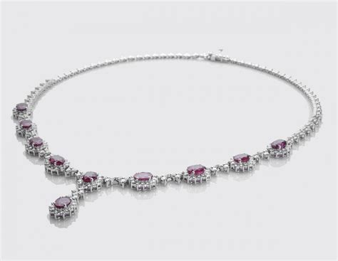 9 08 Ct Blood Ruby ruby necklace featured products lalitha jewellers