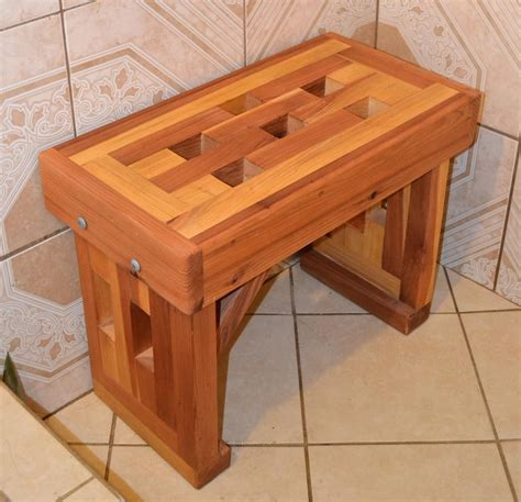 wooden shower bench plans lighthouse shower benches built to last decades forever