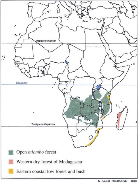 africa map with equator checklist of vegetation and plant distribution maps