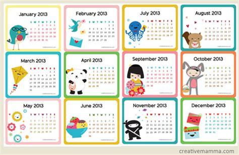 free online printable mini calendar free printable 2013 calendars
