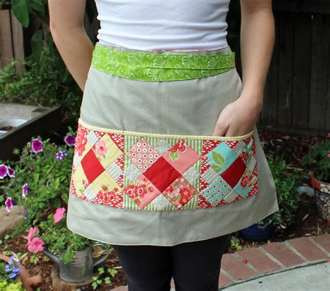 pattern for patchwork apron patchwork please sew along the polka dot cafe apron