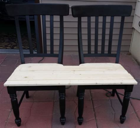 bench made from chairs patio bench made from chairs patio bench patios and