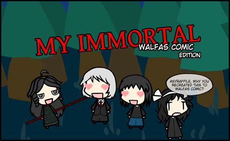 bad fanfiction my immortal part my immortal walfas comic edition miwce intro by