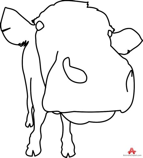 Cow Drawing Outline by Cow Outline Clipart Best