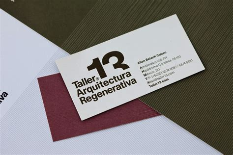 architecture business card taller 13 regenerative architecture business card design