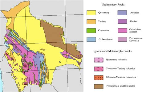 5 themes of geography bolivia south american geologic maps for all 14 countries maps