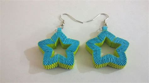 Paper Earrings - 7 paper weaving shaped earrings tutorial funnycat tv