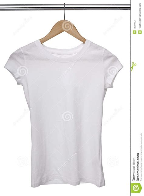 Tshirt Cloth white t shirt on cloth hanger stock image image 18300001